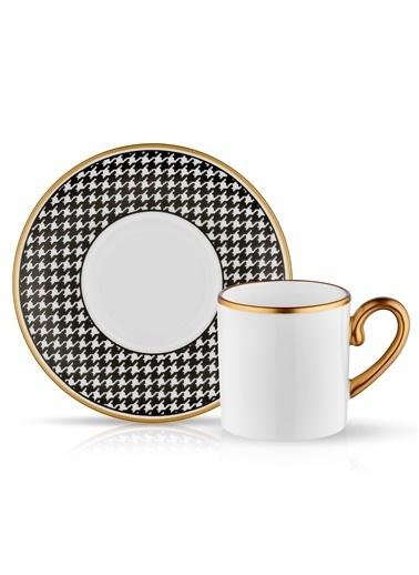 Eva Türk Kahvesi Set 6'lı Ekose Siyah-Koleksiyon